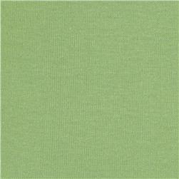 Cotton Blend Baby Rib Knit Sage Green