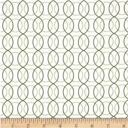 Monterey Circle Geo Olive Green Fabric