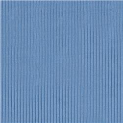 Nylon Rib Knit Light Blue