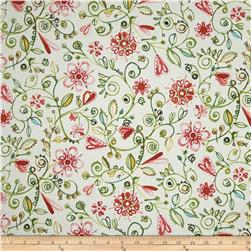 Ariel Watercolor Floral Cream Fabric