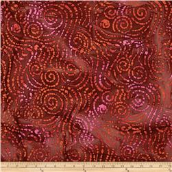 Indian Batik Swirl Brown/Rust/Pink