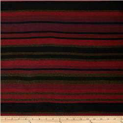 Yarn Dyed Stripes Jersey Knit Brown/Red