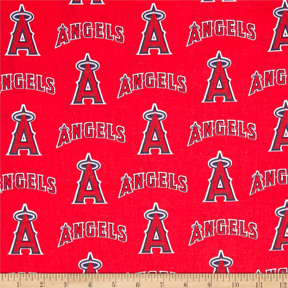 MLB Cotton Broadcloth Los Angeles Angels of Anaheim