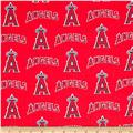 MLB Cotton Broadcloth Los Angeles Angels of Anaheim Red/Blue