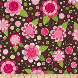 Lily's Garden Large Floral Brown