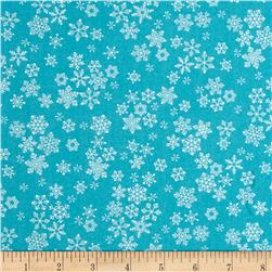 Frosty Snowflakes Teal