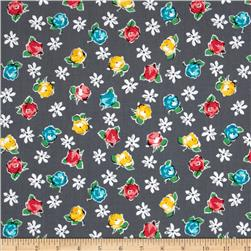 Michael Miller Poppy Love Retro Rose Grey