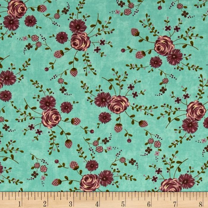 Moda Print Charming Floral Teal