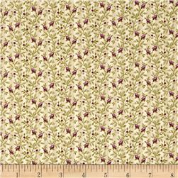 Nancy Gere Peyton Floral Stripe Green