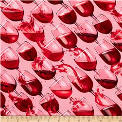 Kanvas Vineyard Classics Cheers Pink Fabric