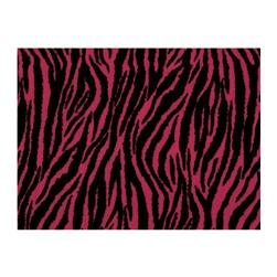 "Fanci Felt 9x12"" Craft Cut Zebra Shocking Pink"