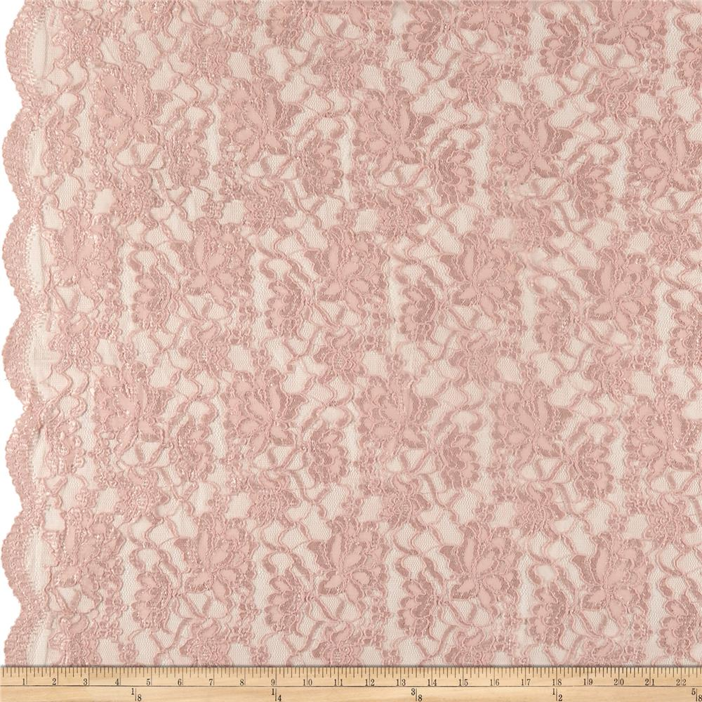 Chantilly Lingerie Lace Double Border Pink - Discount ...