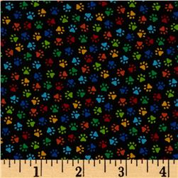 Timeless Treasures Paw Prints Multi