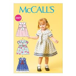 McCall's Toddlers' Dresses and Tie Ends M6913 Size CAA