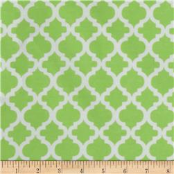 Bella Quatrefoil Flannel Green Apple