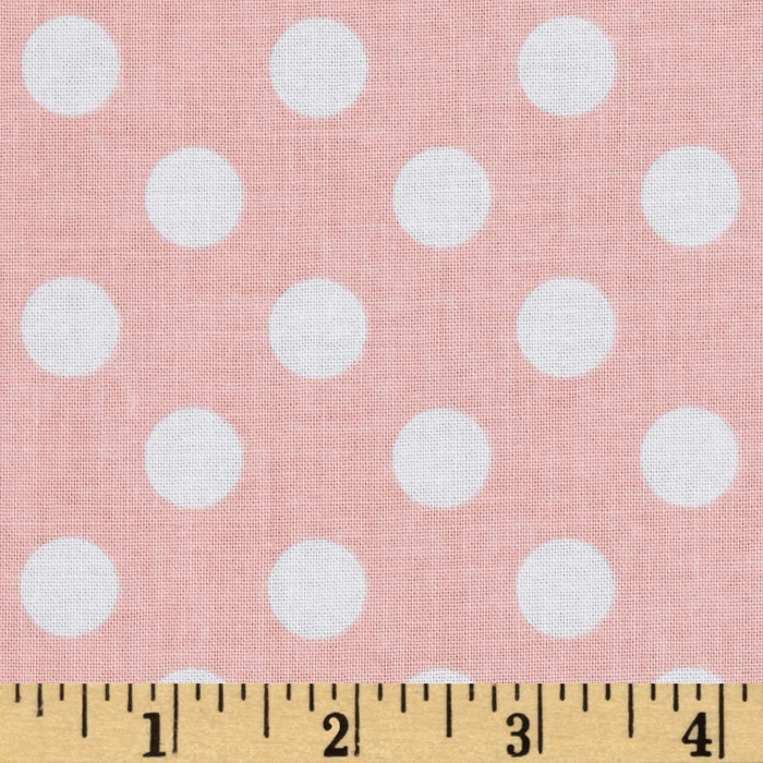 Riley Blake Twice as Nice Dots Pink Fabric