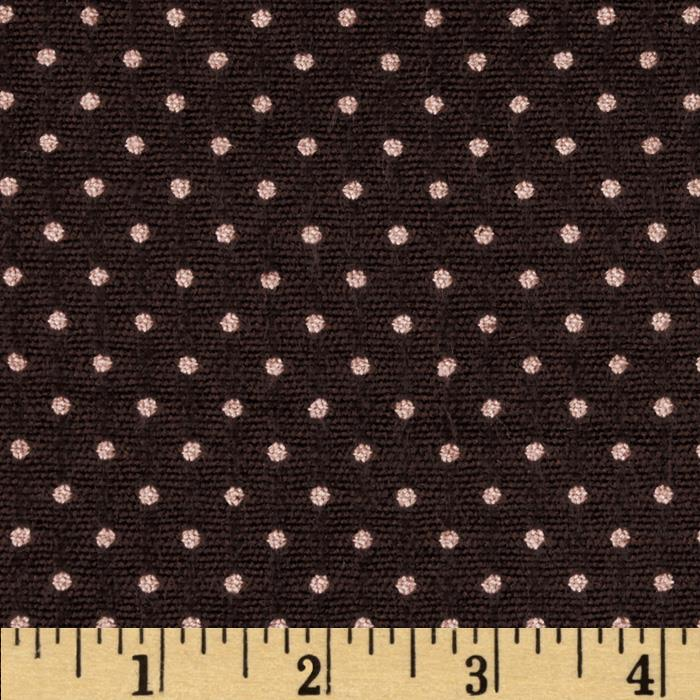 Wool Blend Suiting Jacquard Dots Brown/Pink