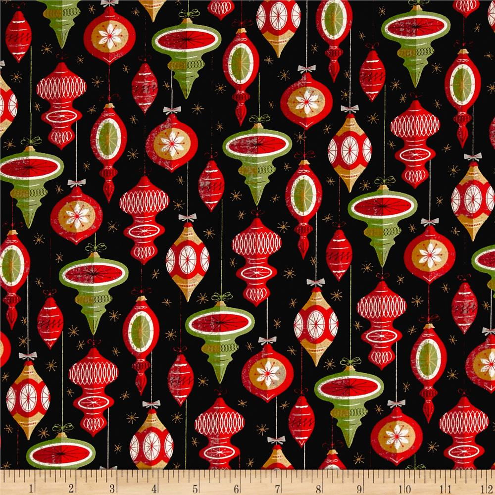Moda Berry Merry Ornaments Charcoal