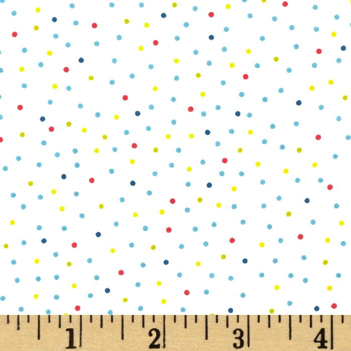 Christmas Pure & Simple Micro Dots Multi/White