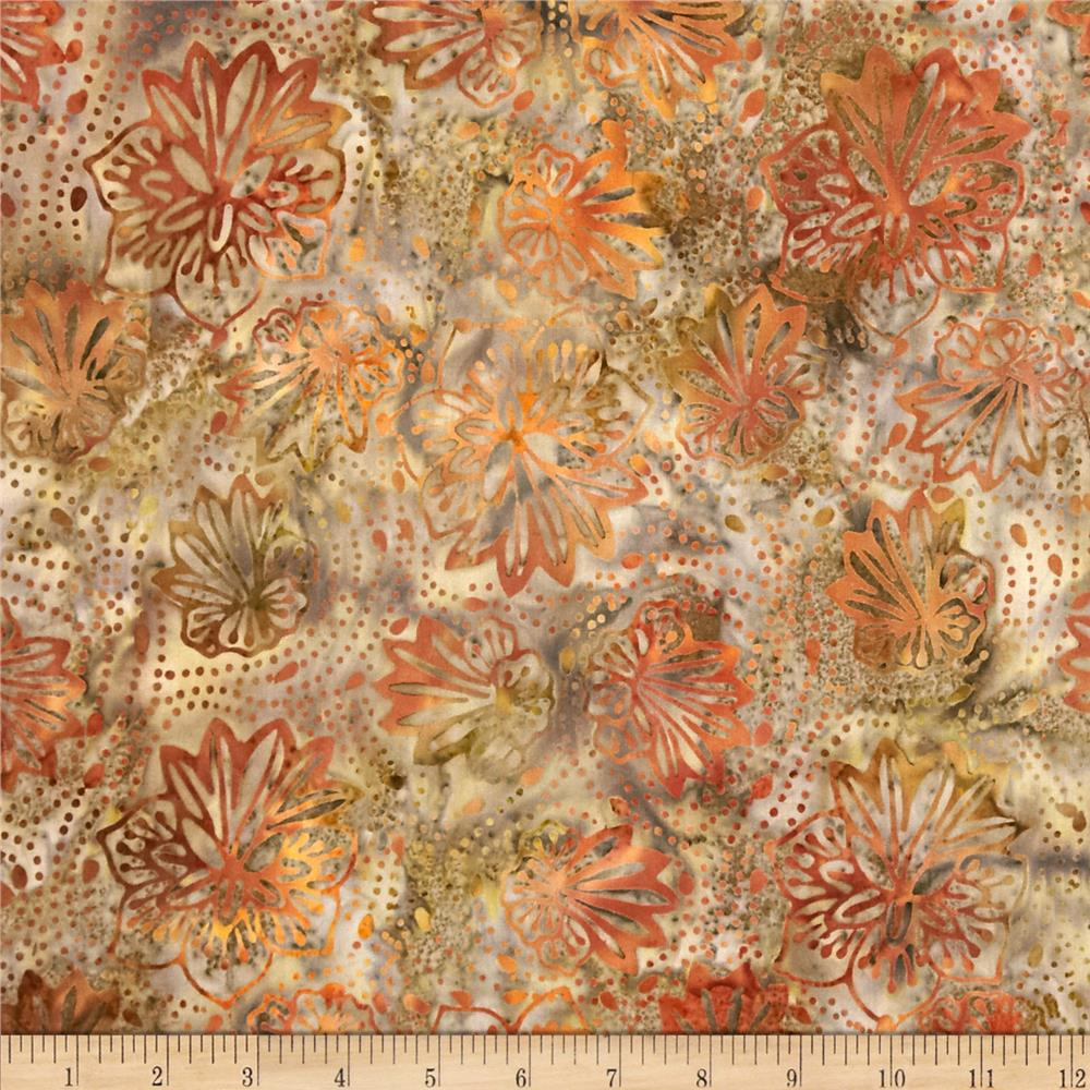 Tonga Batik Punch Pleated Bloom Phantom Brown