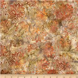 Tonga Batik Punch Pleated Bloom Phantom Brown Fabric