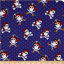 Dead Man's Cove Pirate Skulls Purple