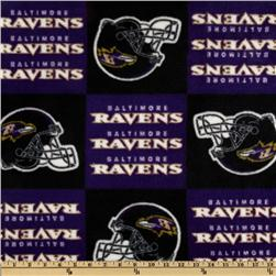 NFL Fleece Baltimore Ravens Squares Black