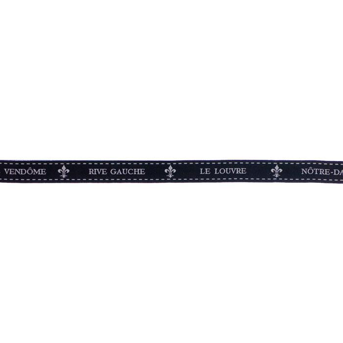 5/8'' Ribbon Place Vendome Black/White