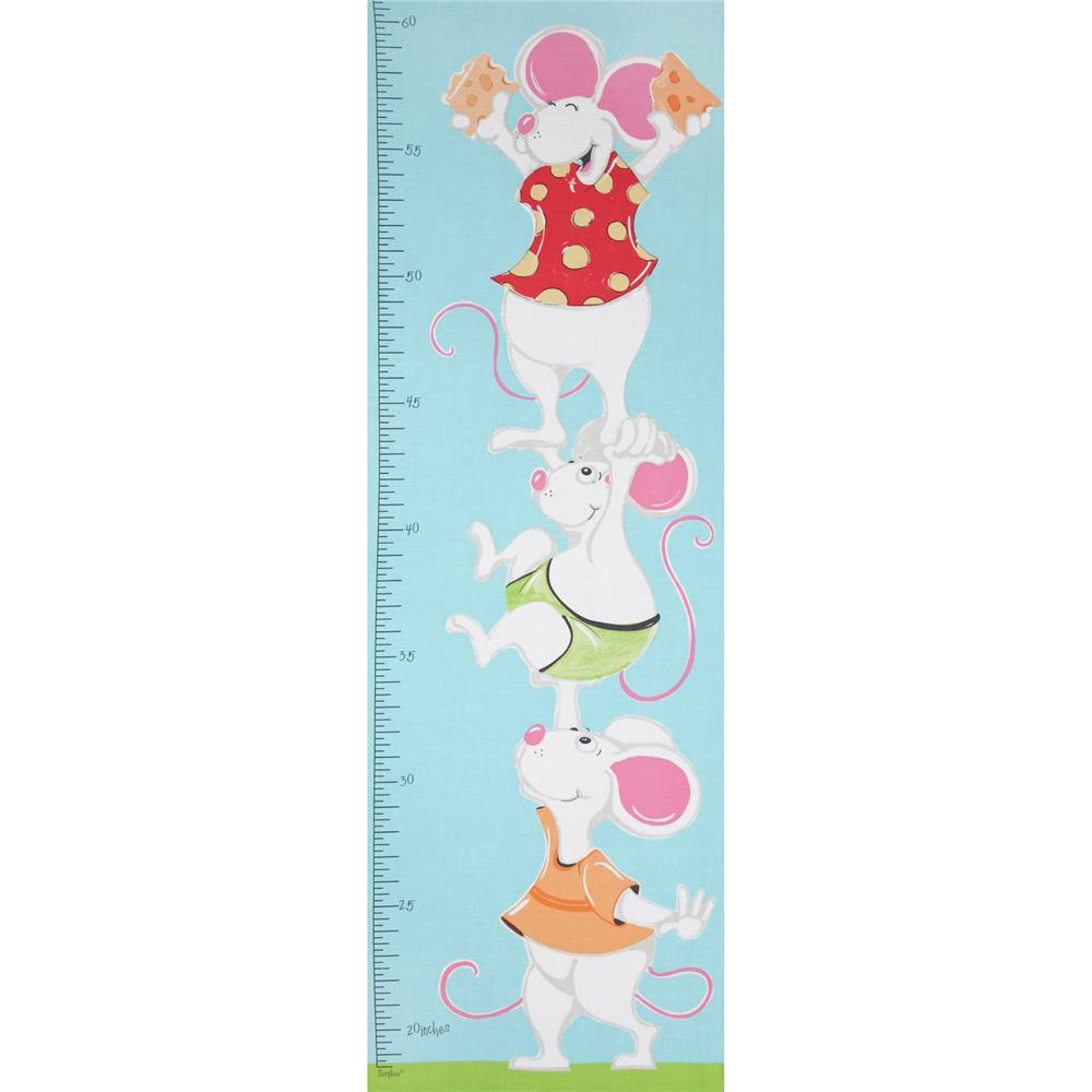 Lewe & Norton 15'' Panel Growth Chart Mouse Blue