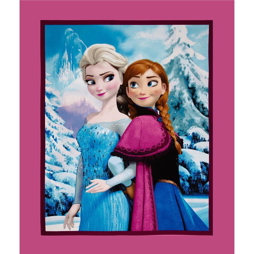 "Disney Frozen Sisters Snowy Scenic 36"" Panel Multi"