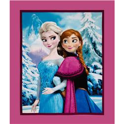 "Disney Frozen Elsa and Anna Sisters Snowy Scenic 36"" Panel Multi"