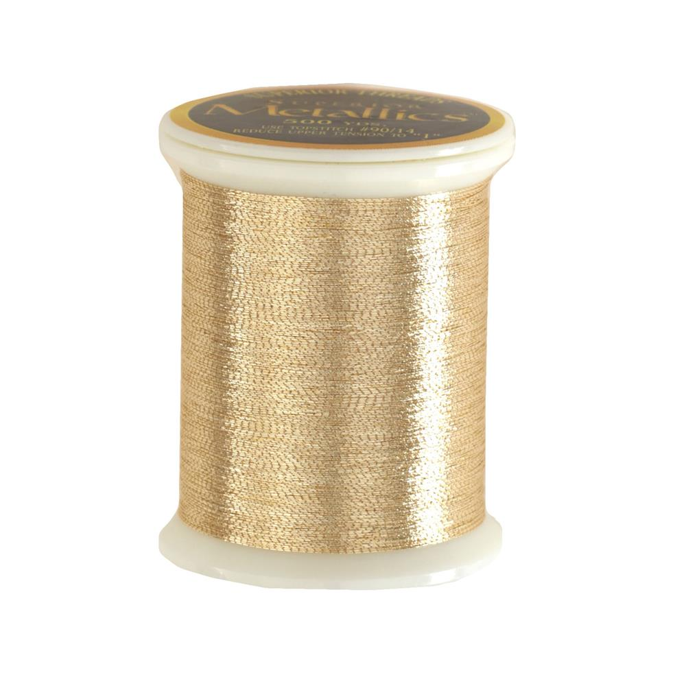 Superior Metallic Thread 500yds Light Gold