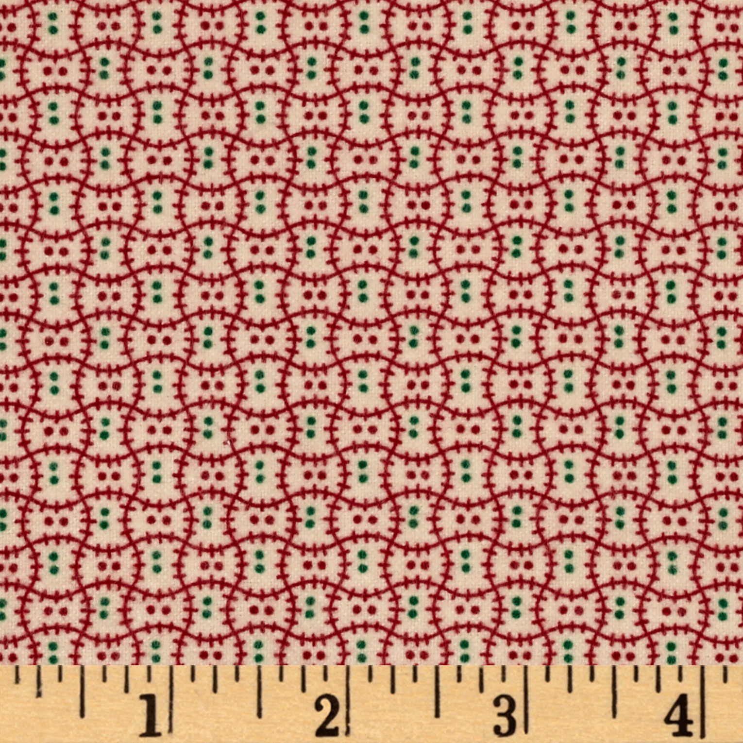 Cozies Flannel Christmas Check Red Fabric by Marcus in USA