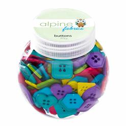 Alpine Button Jar Geo Carnival