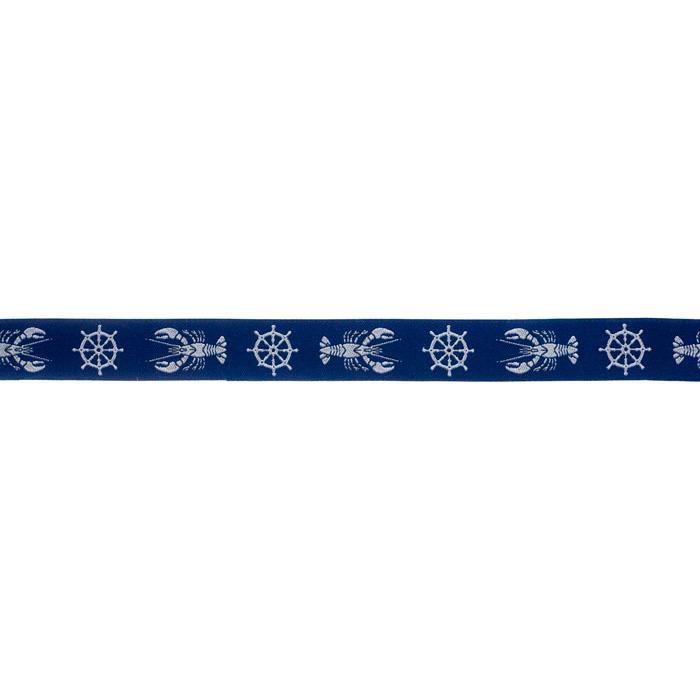7/8'' Ribbon Lobster Nautical Blue/Bone