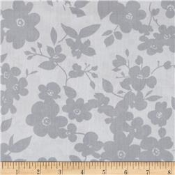 "108"" Wide Quilt Back Daisies Silver"
