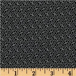 Asuka Metallic Geo Tile Black/Silver