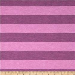 Yarn-Dyed Jersey Knit Heather Stripe Pink