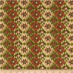 Timber Lodge Flannel Diamond Stripe Forest Green Fabric