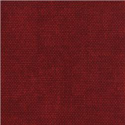 Timeless Treasures Noel Burlap Texture Red Fabric