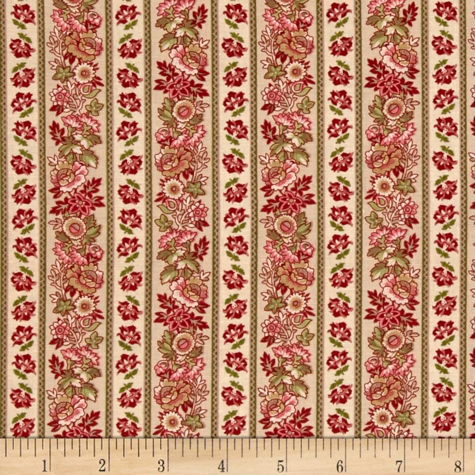 Pride & Purpose Small Floral Stripe Tan Pink