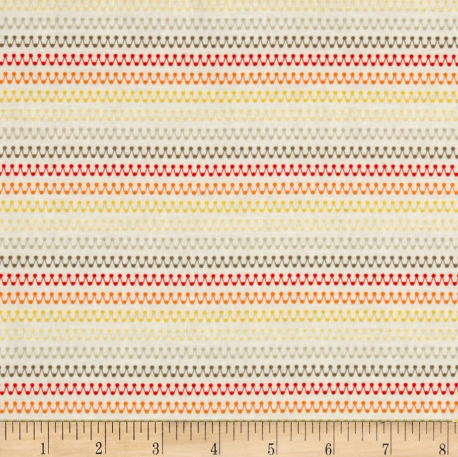 Riley Blake Boy Crazy Stripe Orange