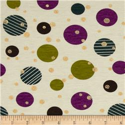 Stretch Rayon Blend Jersey Knit Dots Multi