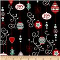 Christmas Wishes Ornaments Black