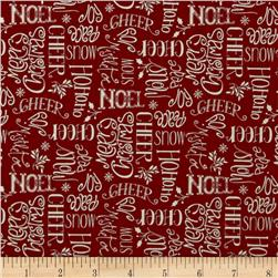 Christmas Whimsy Seasons Greetings Red
