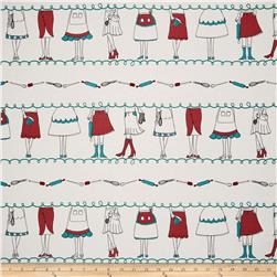 Kitschenette Apron Repeating Stripe Red