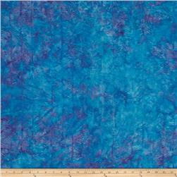 Island Batik Herringbone Dark Aqua/Purple