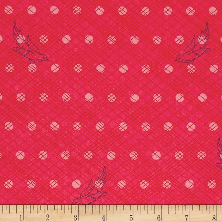 Alison Glass Seventy Six Woven Strawberry Pink