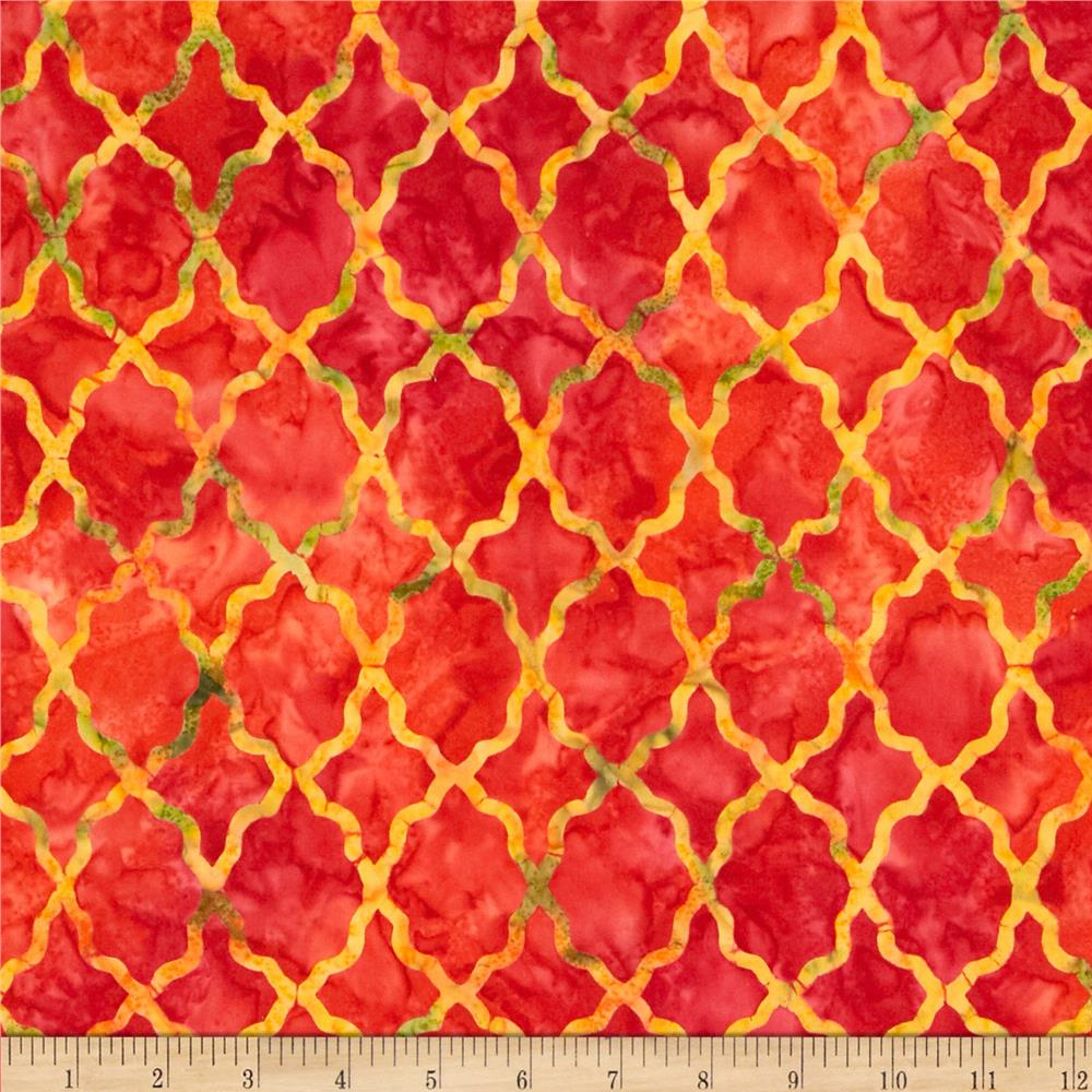 Michael Miller Batik Moroccan Lattice Paprika