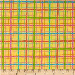 Lollipops Flannel Plaid Yellow Multi